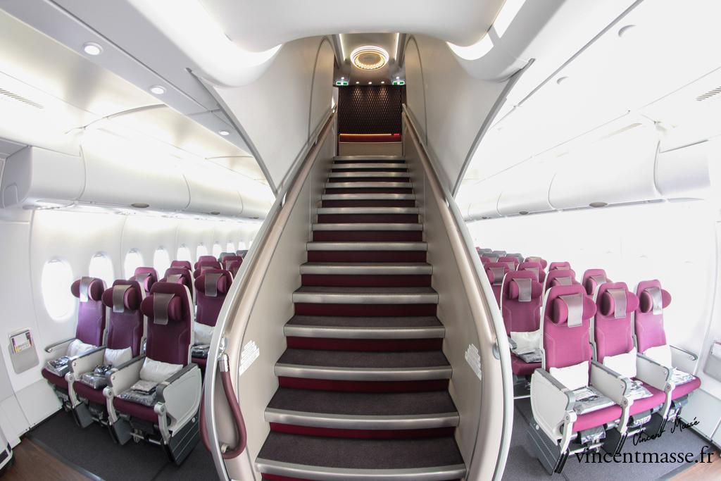escalier A380 Qatar