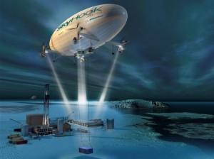Vue d'artiste du SkyHook - Crédit : Boeing