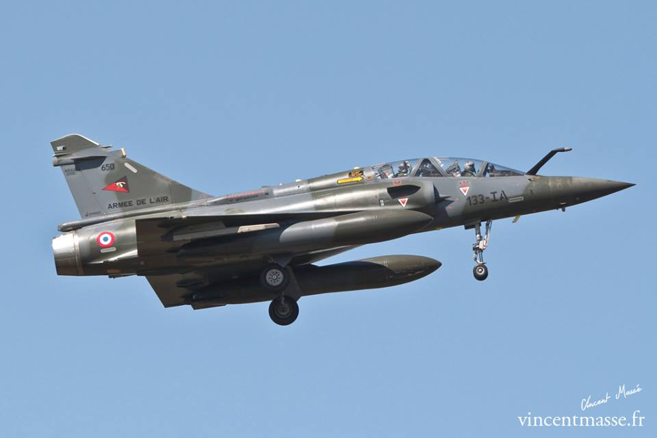 Mirage 2000 D, n°650, 13-IA du 2/3 SPA 67 à l'atterrissage. © Vincent Massé