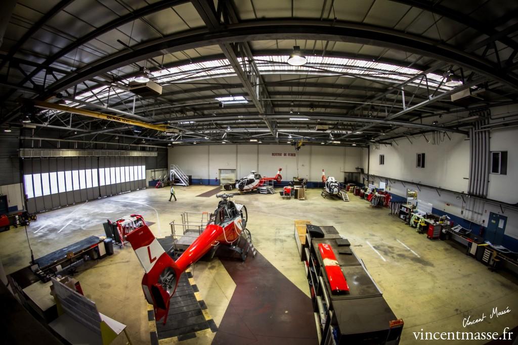 L'atelier de 4200 m² où le personnel d'HeliDax se démène pour permettre une très forte disponibilité