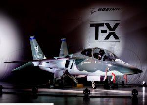 Le T-X de Boeing, lors de sa première présentation publique (©Boeing)