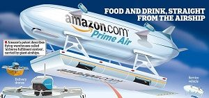 "Vue d'artiste ""Prime Air Airship"", Crédits: Amazon"