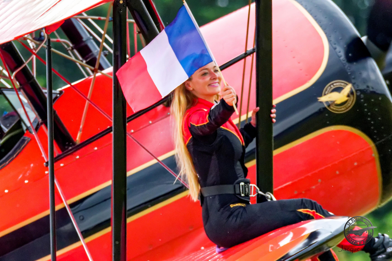Danielle sur Stearman PT 13