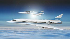 L'avion Boom et le démonstrateur
