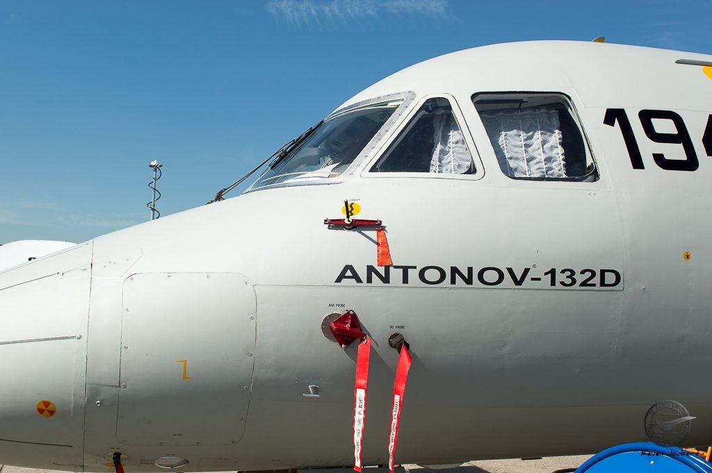 L'avant de l'appareil, il avait abandonné son nez orange rempli d'instrumentation pour sa venue au Bourget