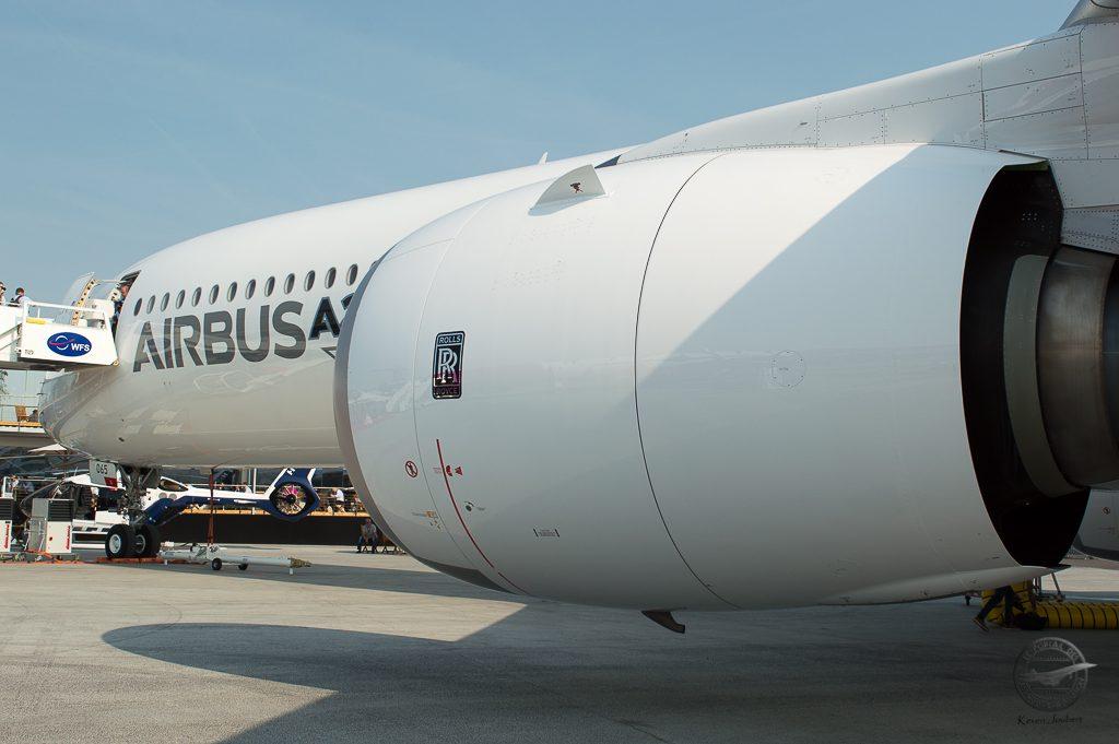Le moteur Trent XWB-97 qui développe la poussée la plus importe de la gamme A350 avec 492kN