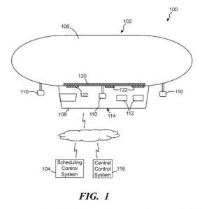 Extrait du brevet de Wal-Mart illustrant le concept de livraison aéroportée, Crédit : Wal-Mart
