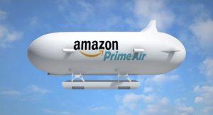 """Visuel du dirigeable """"entrepôt volant"""" d'Amazon, Crédit : Amazon"""