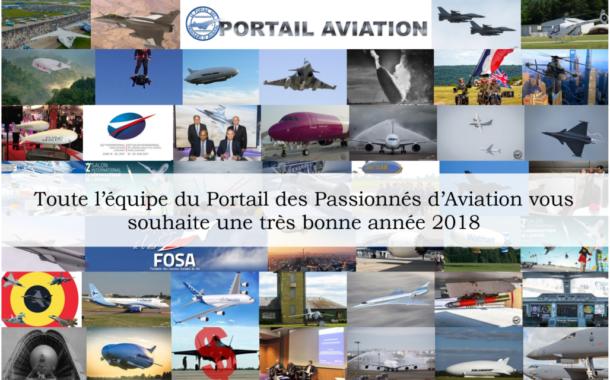 Le Portail des Passionnés d'Aviation vous souhaite une très bonne année 2018 !