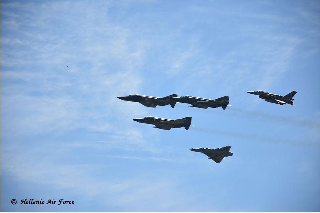 RF-4E, F-16 Block 50, Mirage 2000-5 Mk.2 HAF